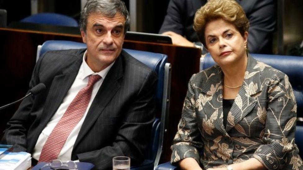 Dilma Rousseff e José Eduardo Cardozo