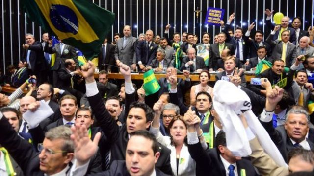 Votação do impeachment de Dilma, em abril de 2016