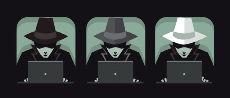 Black, grey and white hat hackers.