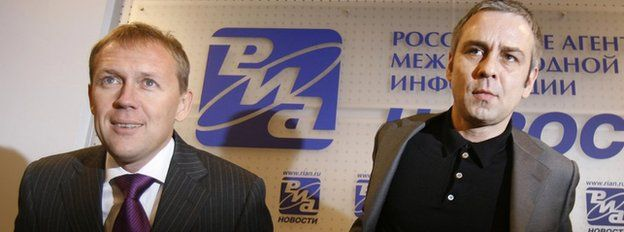 Andrei Lugovoi, left, and Dmitry Kovtun