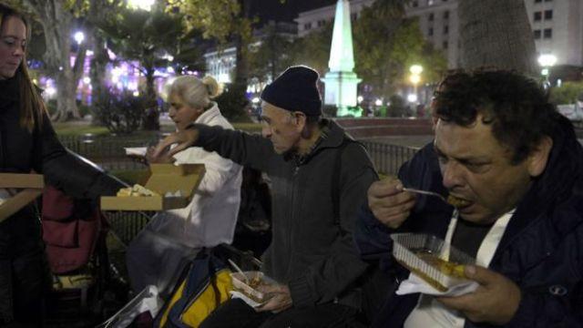 Moradores de rua em Buenos Aires