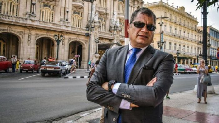 Correa en una visita a La Habana en 2018.