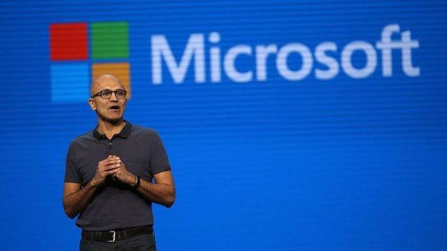 Diretor da Microsoft, Satya Nadella.