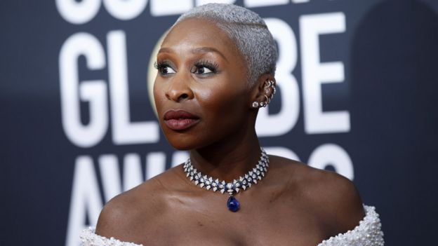 Cynthia Erivo at the Golden Globes