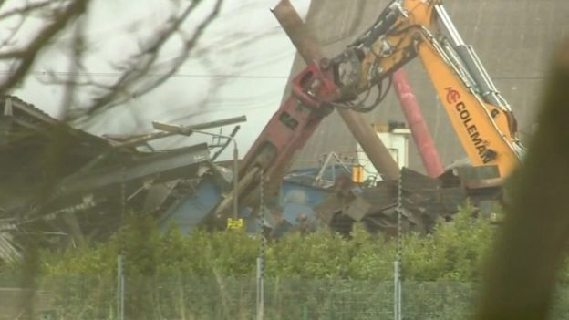 Work at Didcot to clear rubble