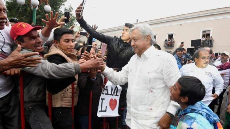 López Obrador em campanha