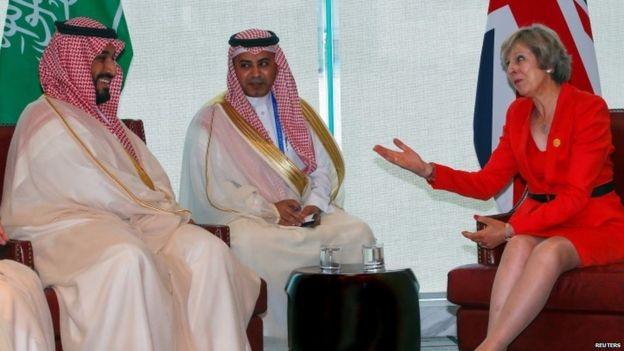 Theresa May meets Saudi Arabia's Deputy Crown Prince Mohammed bin Salman