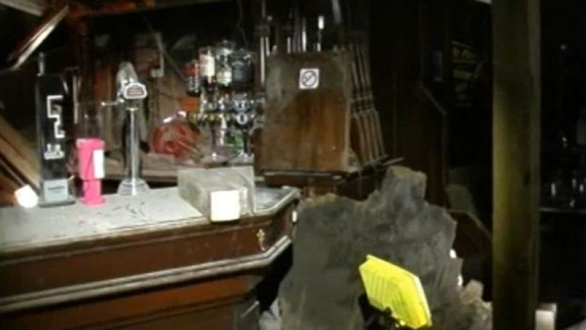 Inside the Clutha after the crash