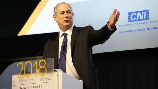Ciro Gomes em debate promovido pela CNI