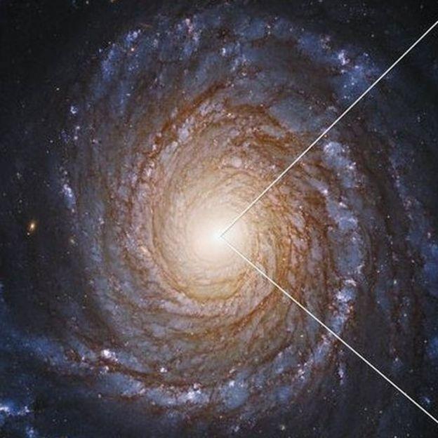 Imagem da galáxia NGC 3147 captada pelo telescópio Hubble