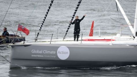 Climate activist Greta Thunberg sailing on yacht to New York