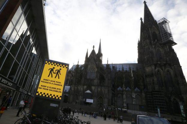 Cologne central station sign