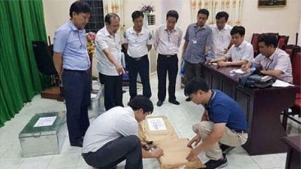 Tổ công tác kiểm tra gian lận thi cử tại Hà Giang.