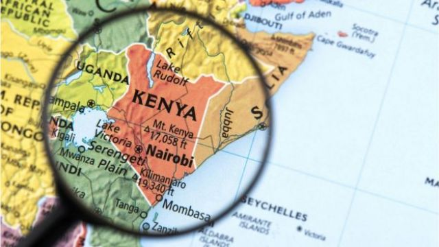 Mapa de Kenia