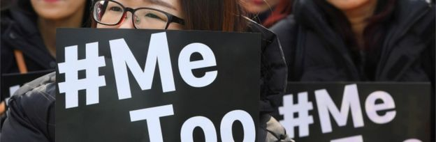 Protesters in Seoul, South Korea