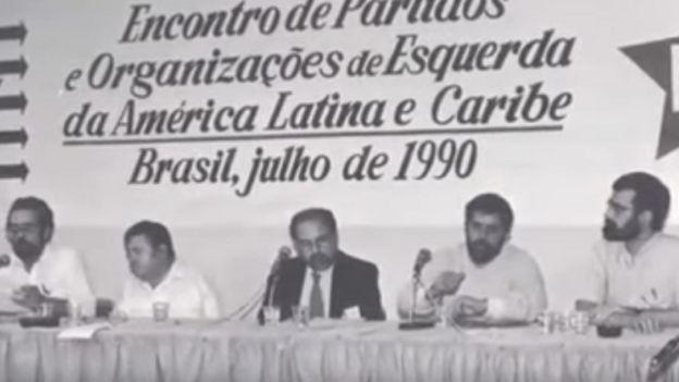 primera reunión del Foro de Sao Paulo