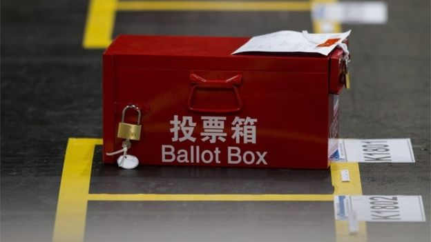 Ballot box in Hong Kong (5 Sept 2016)