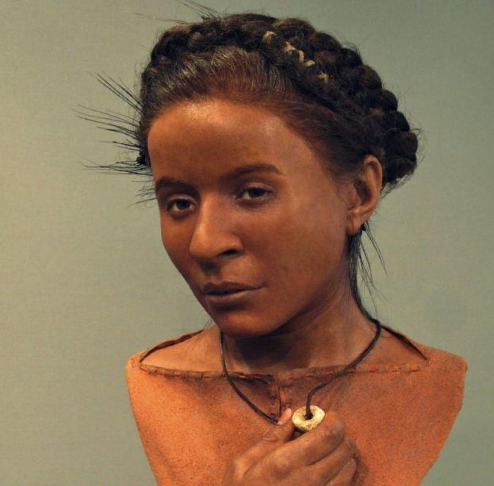 Neolotik çağdan bir kadının rekonstürksiyonu.