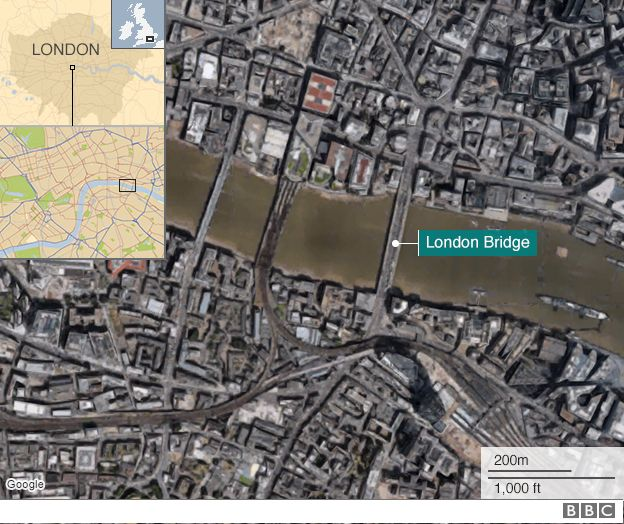 Map of London Bridge area
