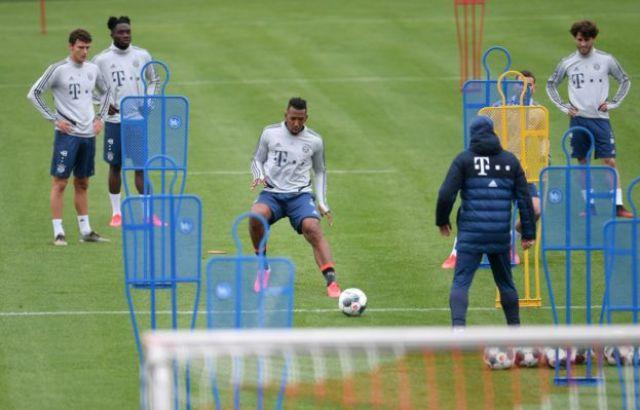 Bayern Munich in training