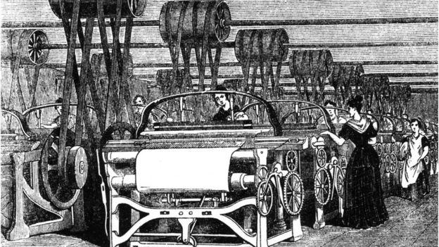 Ilustração da Primeira Revolução Industrial