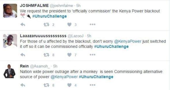 Tweets mocking President Kenyatta