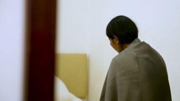 Retrato de vítima traficada para a China