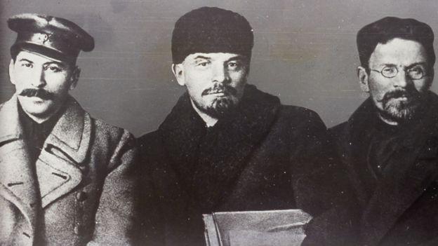Stalin, Lenin y Trotski en 1919