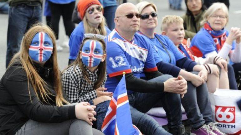 Fanáticos de fútbol islandeses