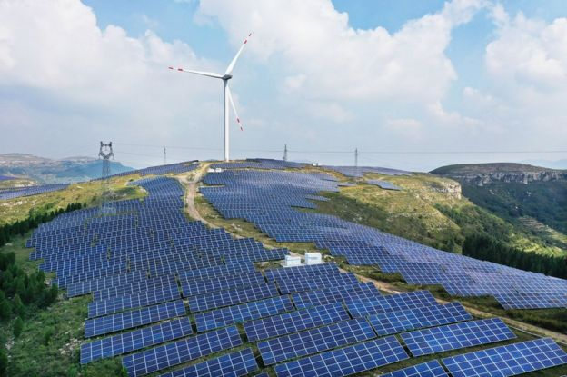 Hybrid wind-solar plant at Zaozhuang, China Has the world started to take climate change fight seriously?