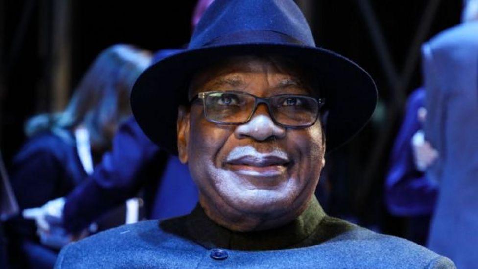President Ibrahim Boubacar Keita attends the plenary session of the Paris Peace Forum on November 12, 2019 in Paris