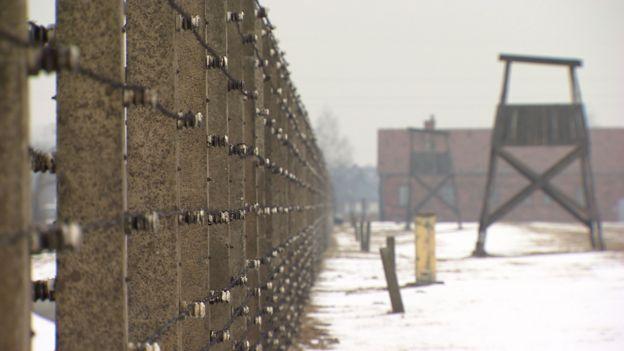 The fence at the Auschwitz-Birkenau death camp