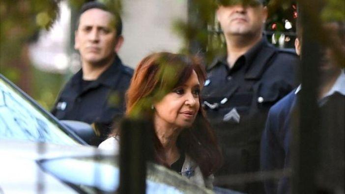 Cristina Fernández Kirchner llegando al juzgado en octubre
