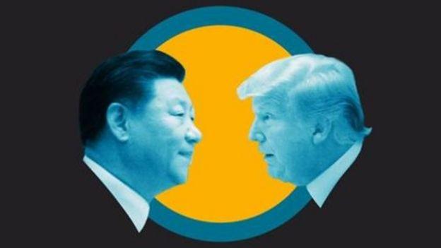 gráfico de Xi y Trump
