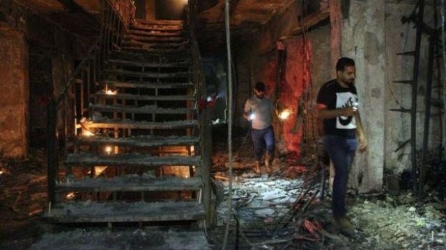 Building burned out by Karrada blast