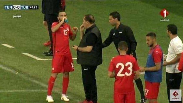 Image result for tunisia football team break fast