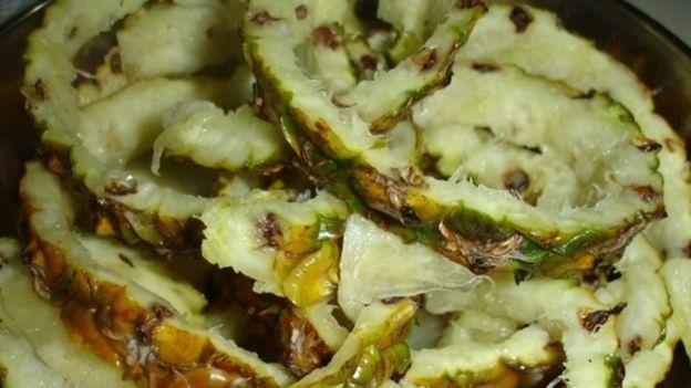 Residuos de abacaxi usados na pesquisa