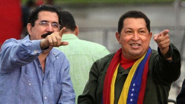 Manuel Zelaya y Hugo Chávez