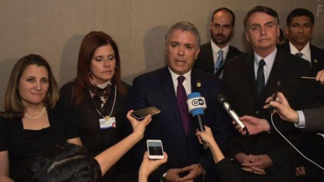 Los líderes de Canadá, Perú, Colombia y Brasil