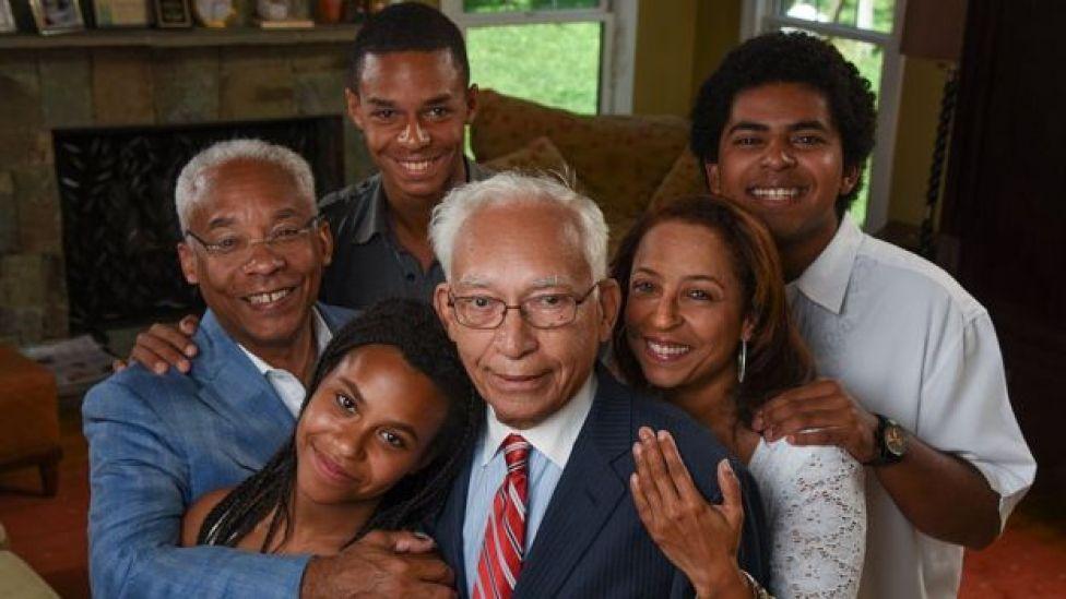 La familia Douglass de Silver Spring, Maryland, EE.UU.