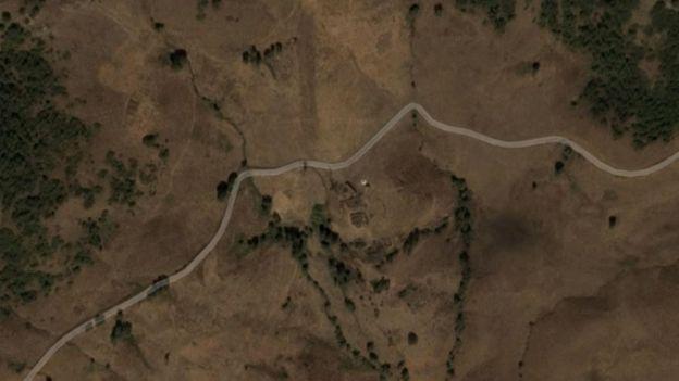 Bilgeç köyünün uydu görüntüsü