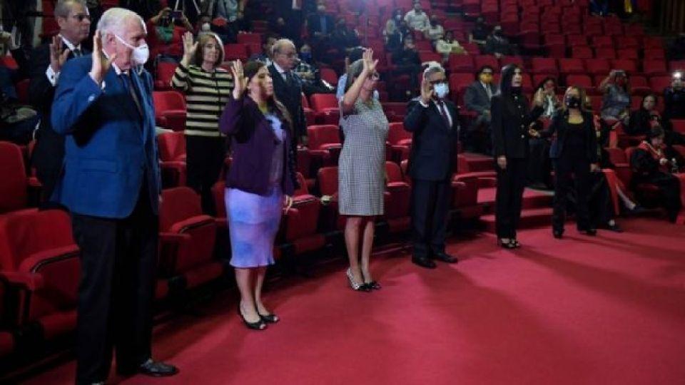 Miembros del CNE.