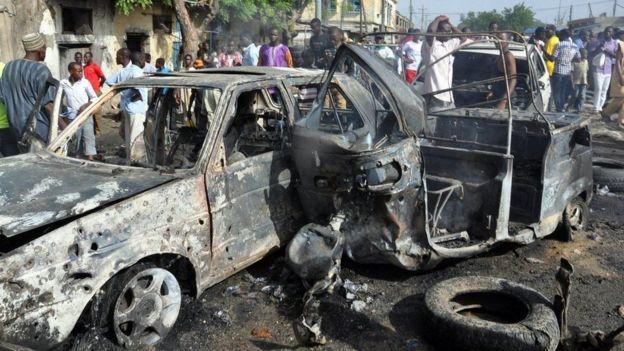 Scene of an attempt of Boko Haram in Nigeria.