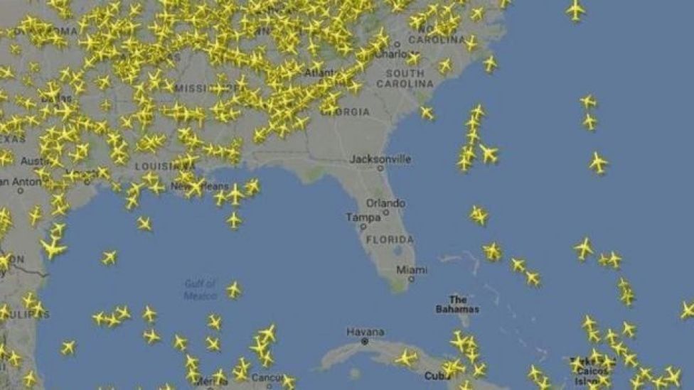espacio aéreo de Estados Unidos