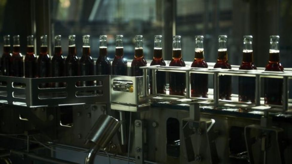 Fritz-Kola being produced