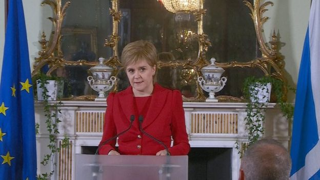 Nicola Sturgeon speaking in Edinburgh on 24 June 2016