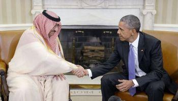 El príncipe heredero, Mohammed bin Nayef, se reúne con el presidente Obama en la Casa Blanca, en mayo de 2016