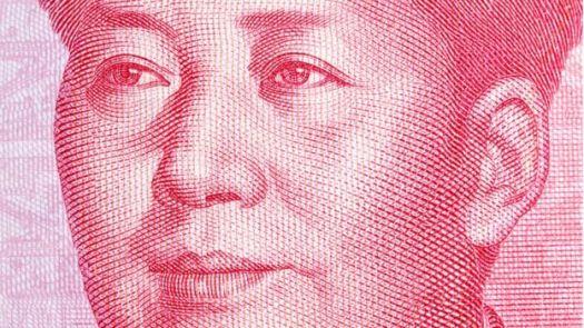 Rosto de Mao Tsé-Tung em nota chinesa de yuan
