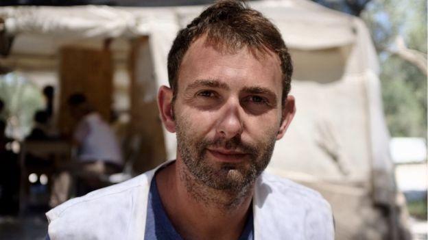 Luca Fontana, coordenador dos Médicos Sem Fronteras em Lesbos