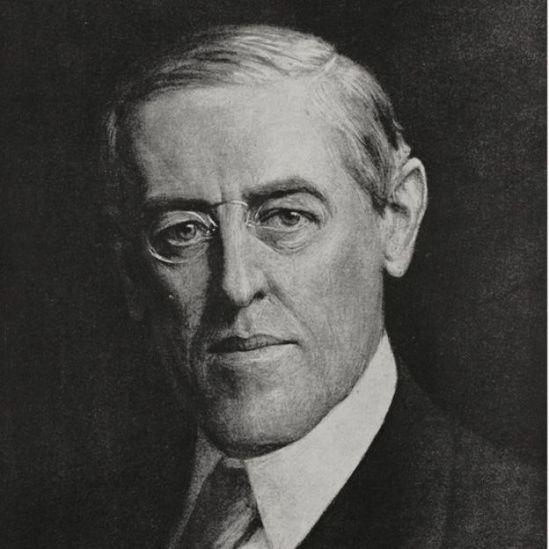 El presidente de Estados Unidos, Woodrow Wilson.